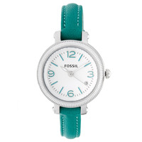 Fossil Women's ES3333 'Heather' Teal Strap Watch