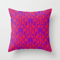 Damask Ikat 1 Throw Pillow by Jacqueline Maldonado | Society6