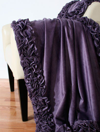 Regal Ruffle Microplush Throw - New Arrivals