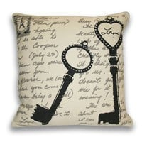Sarah Key Postcard Pillow - New Arrivals