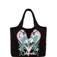 Lauren Moshi Taylor Flamingo Heart Tote Bag in Black