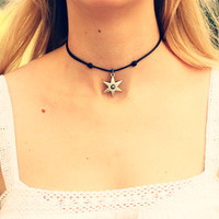 Choker Necklace Pendant Statement Locket Cord Collar 90s Leather Harness Dress Trendy Boho String Tattoo Bdsm Grunge