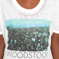 Woodstock Tee in White by Chaser LA at TAGS