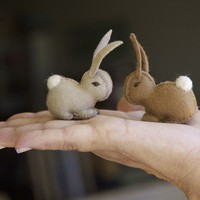 Wool Felt Eco Friendly Bunny by Julie by julieblanchette on Etsy