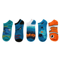 Disney Finding Nemo No-Show Socks 5 Pair
