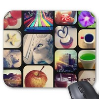 Mousepad with its photos of the Instagram creates
