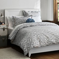 Urban Ikat Duvet Cover + Sham, Light Grey