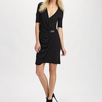 ABS - Wrap Dress - Saks.com