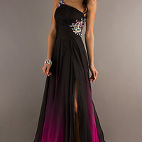Ombré One Shoulder Gown for Prom by Nina Canacci