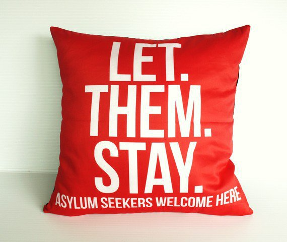 LetThemStay cushion pillow cover lounge love by mybeardedpigeon