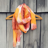 Dream Lake Scarf in Sunset - Tie Dye