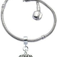 Bracelet for Pandora Beads and charms by GlitZ JewelZ  - Silver plated - Size 8 1/4&quot; (21cms) - comes with a 12MM (1/2&quot;) puff heart charm - fits all pandora / troll / chamilia beads - shines lovely