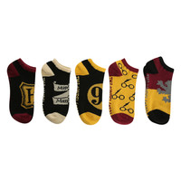 Harry Potter Classic No-Show Socks 5 Pair