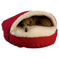 "Snoozer Cozy Cave Hooded Dog Bed - Color: Red, Size: Large (35"" L x 35"" W)"