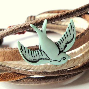 Sparrow Bracelet by Keamana on Etsy
