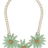 Sweet Mint Florals Necklace