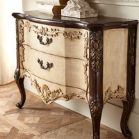 &quot;Maren Linen&quot; Two-Drawer Chest - Horchow