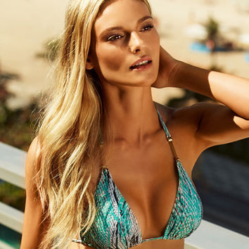 ViX Ruda Aqua - Detail Triangle Bikini Top | Beachbliss