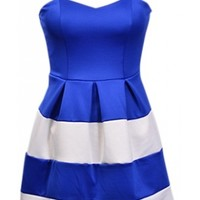Royal Colorblock Dress