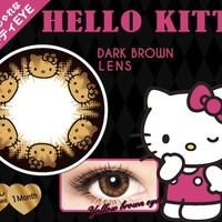 Hello Kitty Color Contact Lens Dark Brown