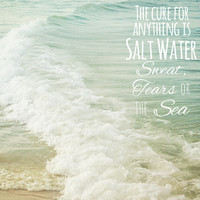 Inspirational Beach Photograph - Saltwater Cure - Jersey Shore