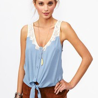 Tied Crochet Top in  What&#x27;s New at Nasty Gal