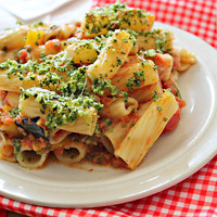 Eats Well With Others: Rigatoni with Eggplant and Pine Nut Crunch...Eat.Live.Be. for a Better 2011!