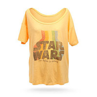 ThinkGeek :: Star Wars Retro Off-the-Shoulder Ladies&#x27; Tee