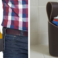 Leather Beverage Holster
