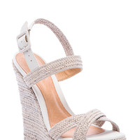 Schutz Jurema Wedge in Cream
