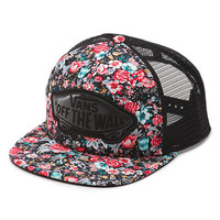 l Trucker Hat (Multi Floral Black/True White)