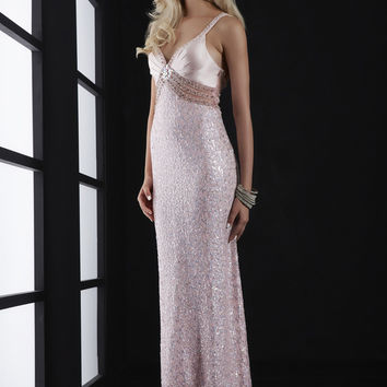 Jasz Couture 5115 - Pink Sequin Illusion Prom Dresses Online