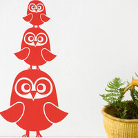 ferm living three owls wall sticker / wallsticker