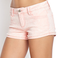 FOREVER 21 Mineral Wash Denim Shorts