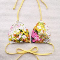 Vintage Floral Printed Bathing SuitBikini made to by Naomilingerie