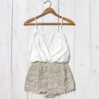 Caravan Romper in White