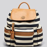 Tory Burch Backpack - Kerrington Striped