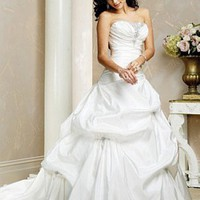 Buy Elegant Fashion Style Taffeta Strapless Wedding Dress in Great Handwork