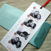 Photo Booth Save the Date Film Strip Bookmark  DESIGN by rbgcolor