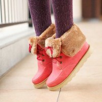 Wholesale Fashionable warm-keeping knight boots Z-XY-X-2 pink - Lovely Fashion