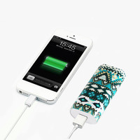 Aztec Stripes Print Portable Power Bank Charger for iPhone and Samsung - power bank
