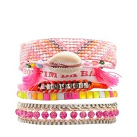 Hipanema Fluro Pink Friendship Bracelet