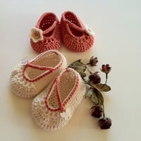 Summer Mary Jane Booties for Baby Girl, Crochet Pattern PDF 12-031 | ThePatternParadise - Children's on ArtFire