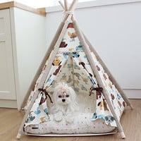 Dog tent , pet house, indian tent, teepee tent