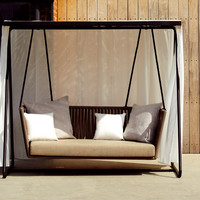 Canopy polyester garden sofa Bitta Collection by KETTAL