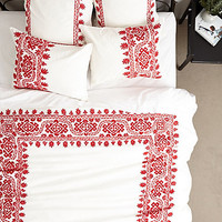 Aari Embroidered Duvet by Coyuchi