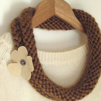 Brown Knitted Necklace - Ready To Ship | Luulla