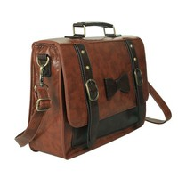 Ecosusi Large Women Vintage Leather Briefcase Satchel Handbag
