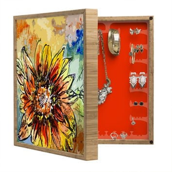 Ginette Fine Art Sunflower Moroccan Eyes BlingBox Petite