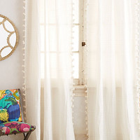 Pom Tassel Curtain by Anthropologie